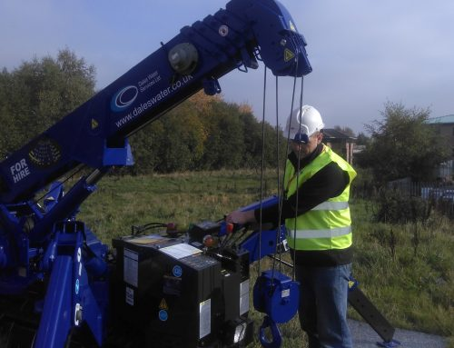 Dales Water Mini Crane Helps Retrieve Borehole Pump