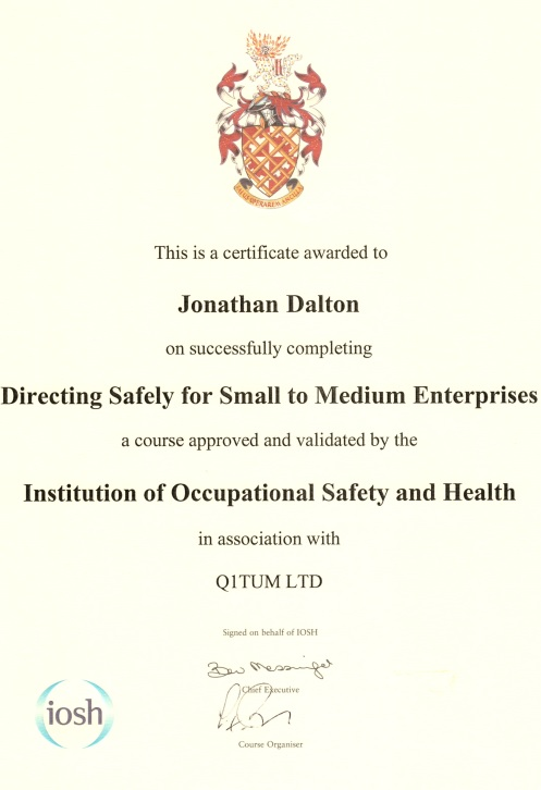IOSH Directing Safely